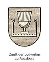Zeichnung: Zunftwappen der Lodweber zu Augsburg