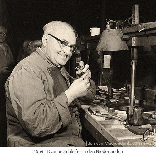 sw Foto: Diamantschleifer in den Niederlanden - 1959