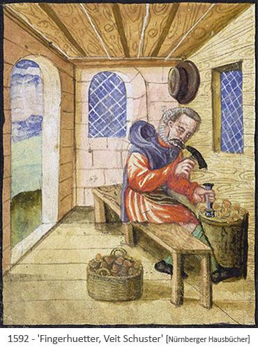 Buchmalerei: Fingerhuetter, Bruder Veit, bei der Arbeit - 1592