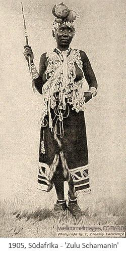 sw Foto: Zulu Schamanin - 1905, Südafrika