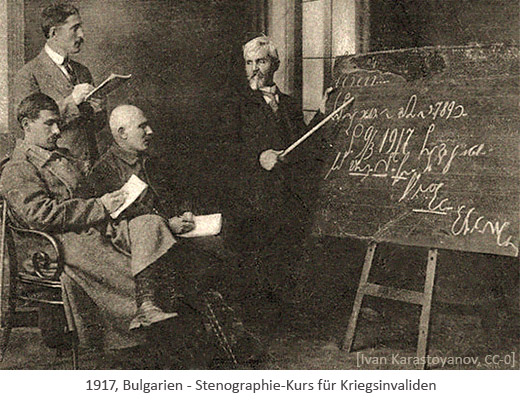 sw Foto: Stenographie-Kurs für Kriegsinvaliden - 1917, Bulgarien