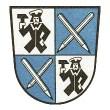 Grafik: Wappen der Stadt Stein mit gekreuzten Bleistiften