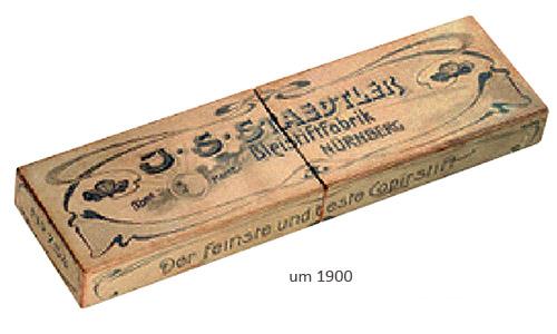 Farbfoto: Staedtler-Bleistiftbox aus Pappe ~1900