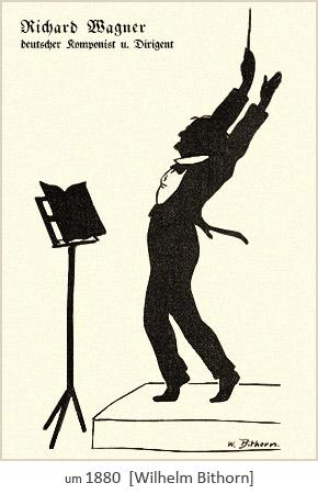 Silhouettenbild: Richard Wagner, deutscher Komponist u. Dirigent ~1880
