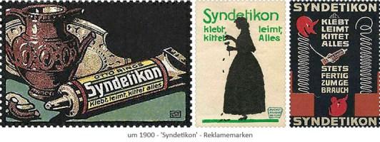 3 Reklamemarken für Syndetikon ~1900