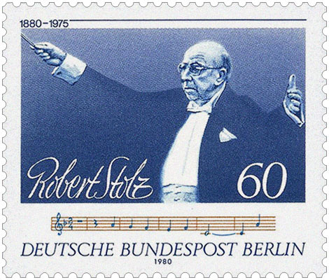 Briefmarke: Robert Stolz beim Dirigieren - 1980