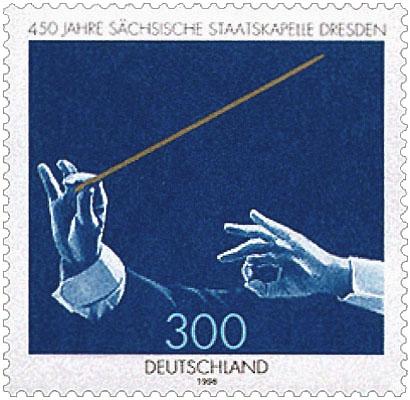 Briefmarke: Hände mit Taktstock - 1968