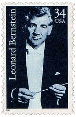 Briefmarke: Leonard Bernstein mit Taktstock - 2001, USA
