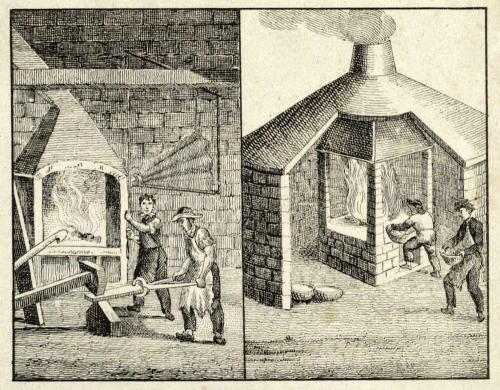 zwei Szenen am Feuer