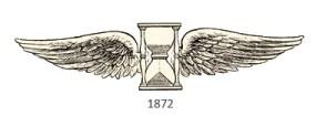 Zeichnung: Sanduhr mit Flügel - 1872