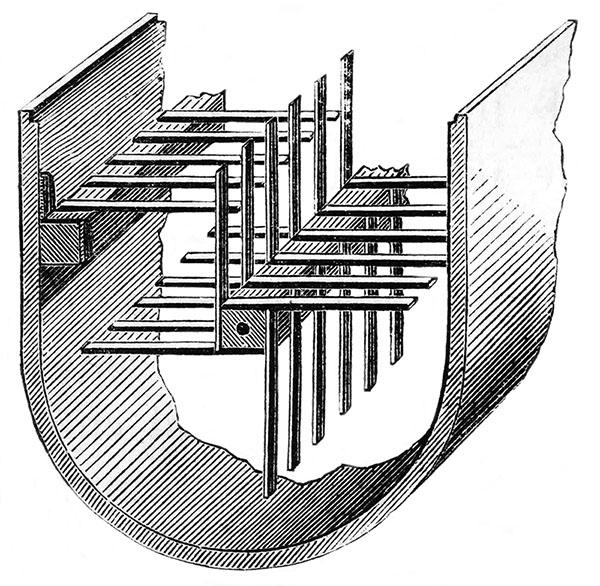 sw-Stich: Inneres eines Butterfasses