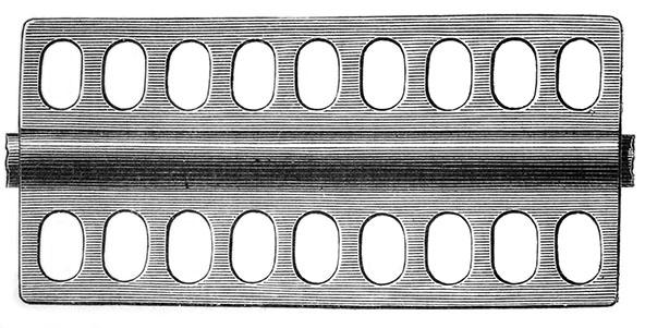sw-Stich: Gerät mit ovalen Löchern