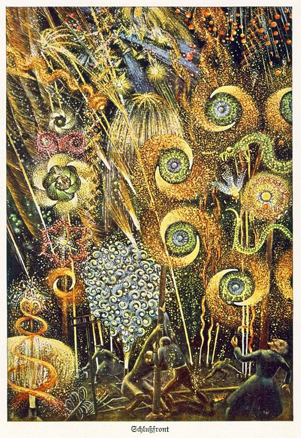 illustriertes Feuerwerk