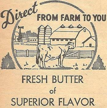 englische Butterwerbung
