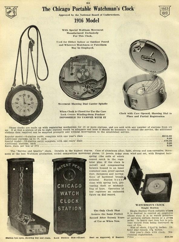Katalogseite mit Uhren