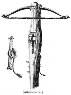 sw-Zeichnung: Armbrust