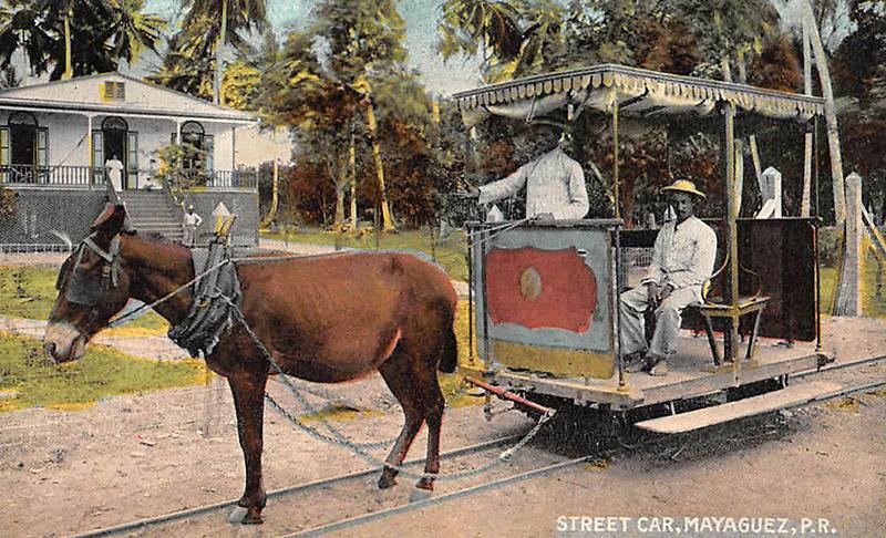 Strassenbahnführer mit Pferd
