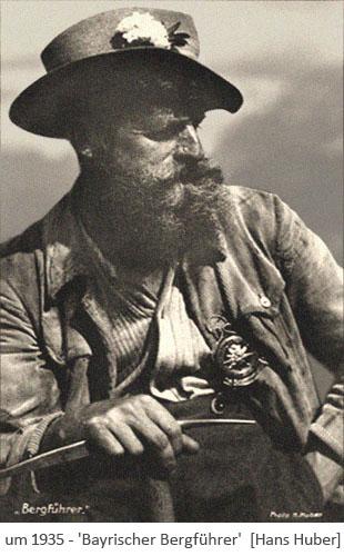 sw Foto: Bayrischer Bergführer in heimischer Tracht ~1935