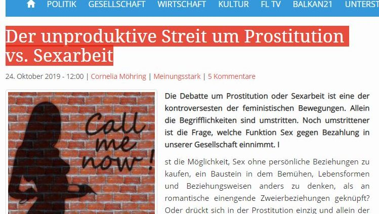 Screenshot Webseite