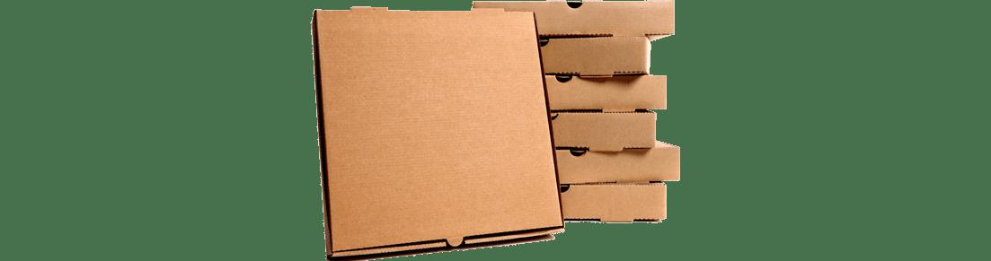 caja de carton para pizzas