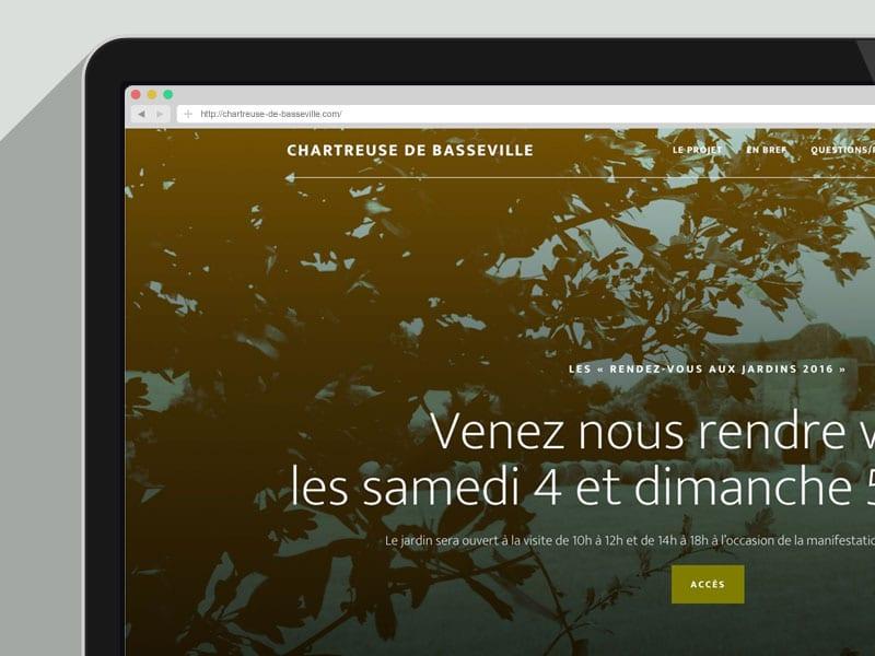 Site responsive Wordpress de la Chartreuse de Basseville par Béryl de La Grandière