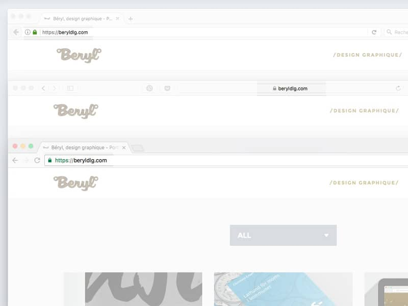 Visualisation de contenu sécurisé https dans les différents navigateurs. Béryl, design graphique.