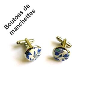 04- Boutons de manchettes tissu Liberty of London