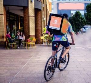 maaltijdbezorger op de fiets