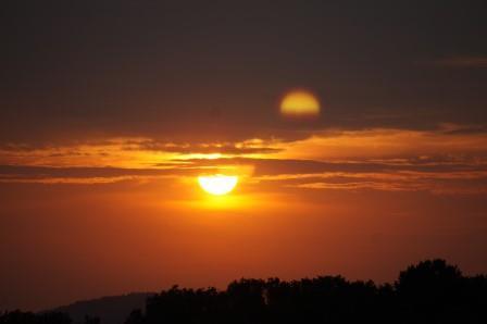 Sonnenuntergang auf dem Lindenhof Juli 2013
