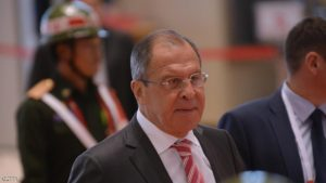 Russian Foreign Minister Sergey Lavrov (C) smiles as he arrives at the main venue of the Association of Southeast Asian Nations (ASEAN) annual ministerial meeting and the Regional Security Forum  in Vientiane on July 25, 2016. Regional diplomats are gathered in the Laos capital Vientiane for an ASEAN summit that has been dogged by the flashpoint issue of territorial claims. / AFP / HOANG DINH NAM        (Photo credit should read HOANG DINH NAM/AFP/Getty Images)