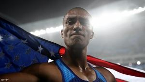 RIO DE JANEIRO, BRAZIL - AUGUST 18:  Ashton Eaton of the United States celebrates winning gold overall after the Men's Decathlon 1500m on Day 13 of the Rio 2016 Olympic Games at the Olympic Stadium on August 18, 2016 in Rio de Janeiro, Brazil.  (Photo by Alexander Hassenstein/Getty Images)