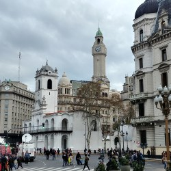 Buenos Aires, Argentina – September 11, 2019: Cabildo view in Mayo Square.