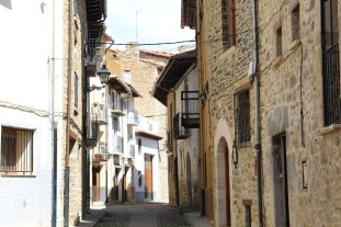A traditional street in Cantavieja, Spain