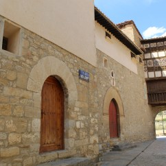 Major Street and Portal de las Monjas (Monjas Gate), Mirambel