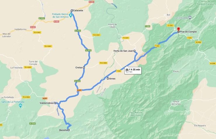 Route Terra Alta - Matarraña