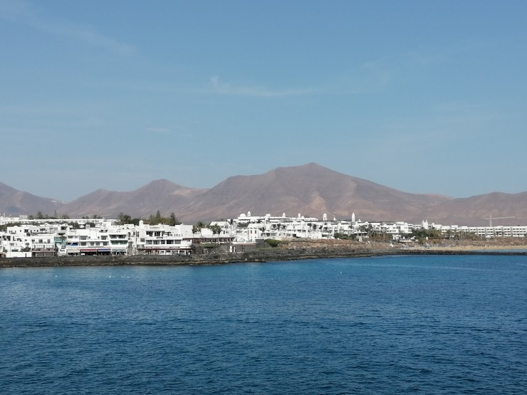 Playa Blanca on Lanzarote Island from the Ocean