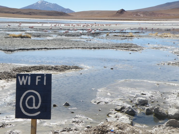 WI-FI sign in Chile