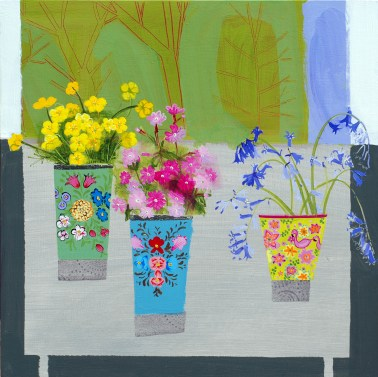 Buttercups, Campion and Bluebells, 46 x 46 cm, £1100