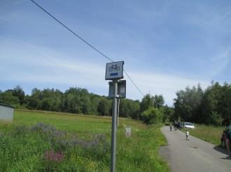 niebieski szlak rowerowy Przysiółek Watówki