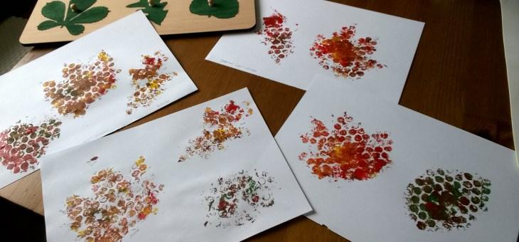 Podzimní listí – otisky