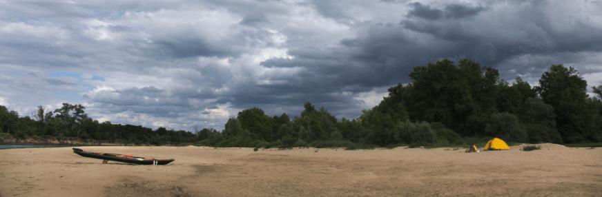 Bivouac sur une île de la Loire