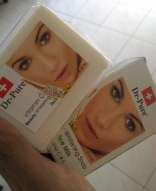 Review Sabun Dr Pure Beauty Whitening Soap Rice Milk