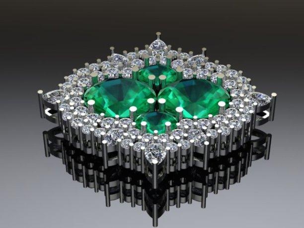 Emerald brooch 1