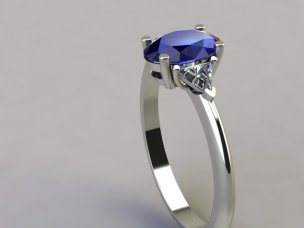 Oval Saphire Ring