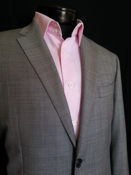 An example of a notched lapel suit