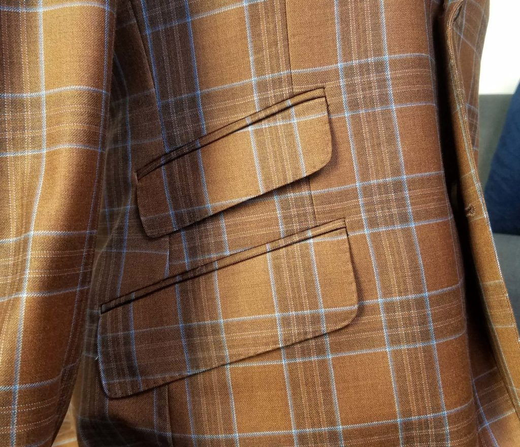 buying a fall sportcoat and flap pockets