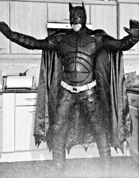 Batman ready for action! One of our earliest attempts at custom builds. Image copyright of Bespoke Fantasy Costumes.