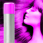 Pink UV hair and body spray.