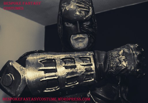 'Batman's ready!' Bespoke costume build by Bespoke Fantasy Costumes. Mask, gloves, gauntlets, cape, armour by Bespoke Fantasy Costumes. Photography and edit by Rose-Sky Journey Pieces. Copyright 2016.