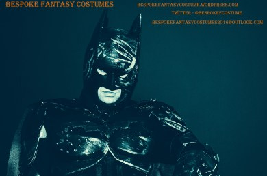 Batman TDK battle worn custom made look. Costume by Bespoke Fantasy Costumes. Photography and edit by Rose-Sky Journey Pieces. Copyright 2016.